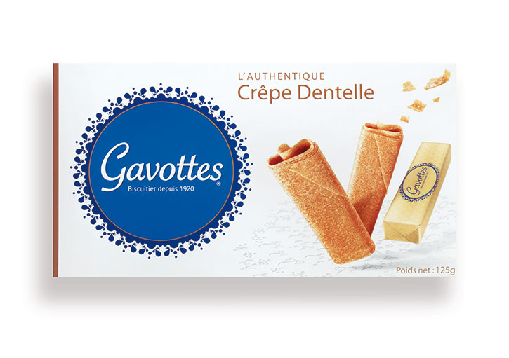 Crepes Dentelles - Plain - Box of 12 Gold Wrap of 2 pc - 125g - LM299